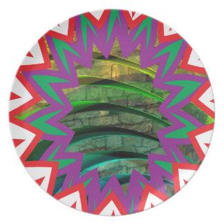 Presente colorido feliz do design gráfico da pratos de festas