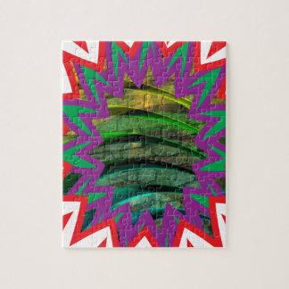 Presente colorido feliz do design gráfico da quebra-cabeça