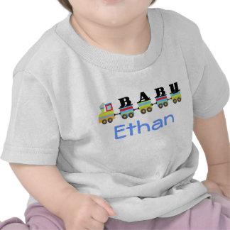 Presente conhecido personalizado do trem do bebê camiseta