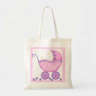Presente cor-de-rosa da fralda do bolsa da menina
