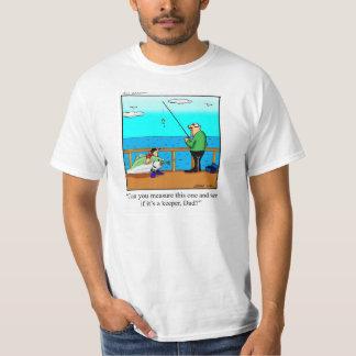 Presente da camiseta do humor da pesca