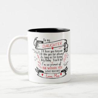 Presente da caneca de café da filha da mamã
