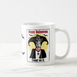 Presente da caneca de Dracula o Dia das Bruxas da