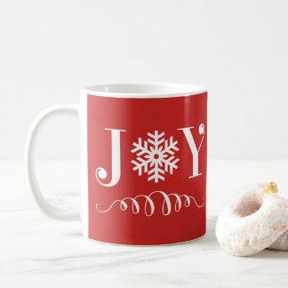 Presente da caneca do floco de neve da alegria do