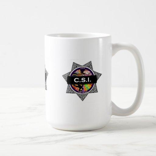 Presente da caneca do programa televisivo de CSI L