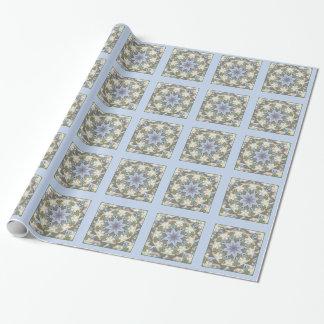 Presente da lavanda da mandala da estrela/papel de papel de presente