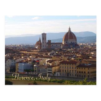 Presente da lembrança do viagem de Florença Italia Cartão Postal