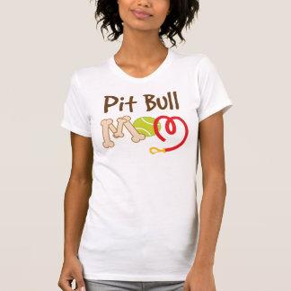 Presente da mamã da raça do cão do pitbull t-shirts