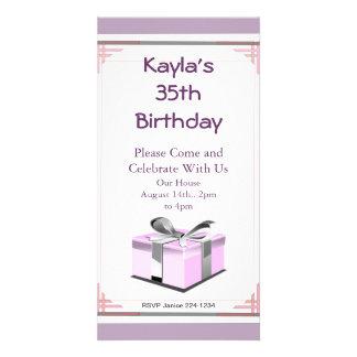 Presente de aniversário cartão com foto