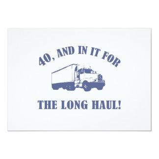 Presente de aniversário de 40 anos engraçado convite 12.7 x 17.78cm