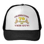 presente de aniversário do 70 para ele bone