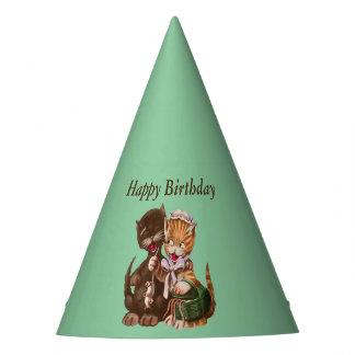 Presente de aniversário dos gatos do divertimento chapéu de festa