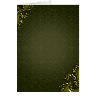 Presente de casamento esverdeado atrativo dos rede cartão comemorativo