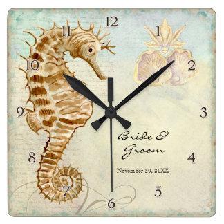 Presente de casamento personalizado do cavalo de m relógios para pendurar