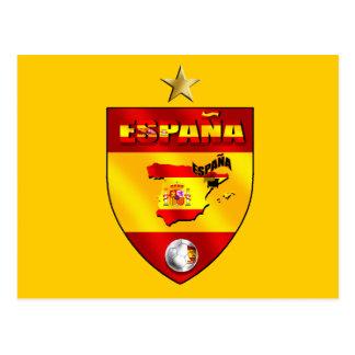 Presente de uma estrela dos campeões de Espana Cartoes Postais