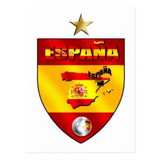 Presente de uma estrela dos campeões de Espana Cartão Postal