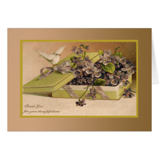 Presente do amor - cartões de agradecimentos da
