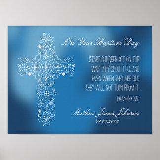 Presente do baptismo - impressão personalizado com