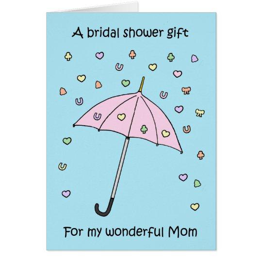 Presente do chá de panela para a mamã cartão comemorativo