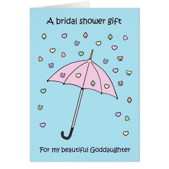 Presente do chá de panela para o Goddaughter Cartão Comemorativo