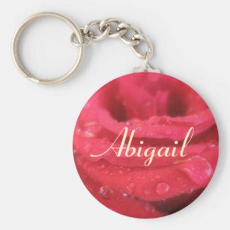 Presente do chaveiro de Abigail da rosa vermelha