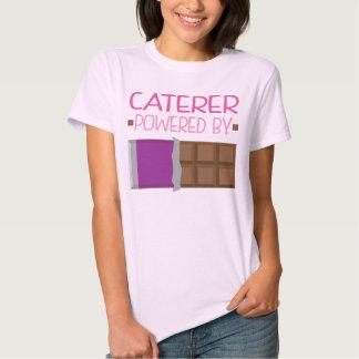 Presente do chocolate do fornecedor para a mulher tshirts