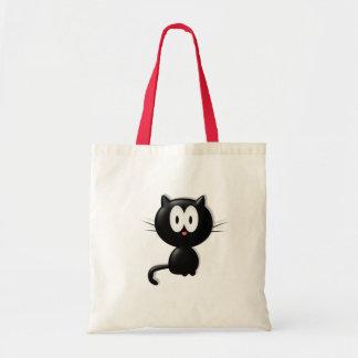 Presente do Dia das Bruxas do gato de Scardy do ga Sacola Tote Budget