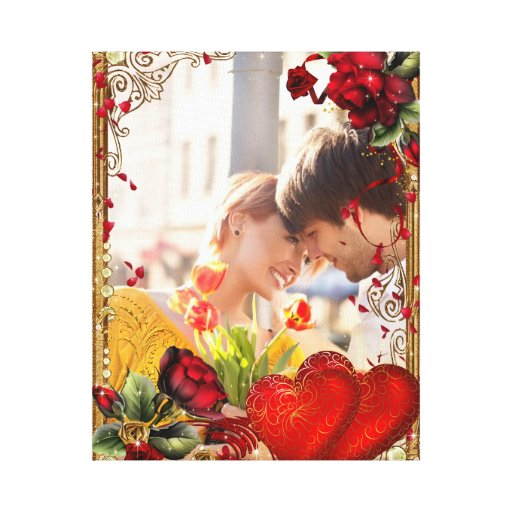 Presente do dia dos namorados - sua foto ao impres impressão em canvas