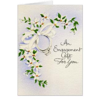Presente do noivado cartão comemorativo