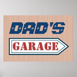 Presente do poster do sinal da garagem do mecânico