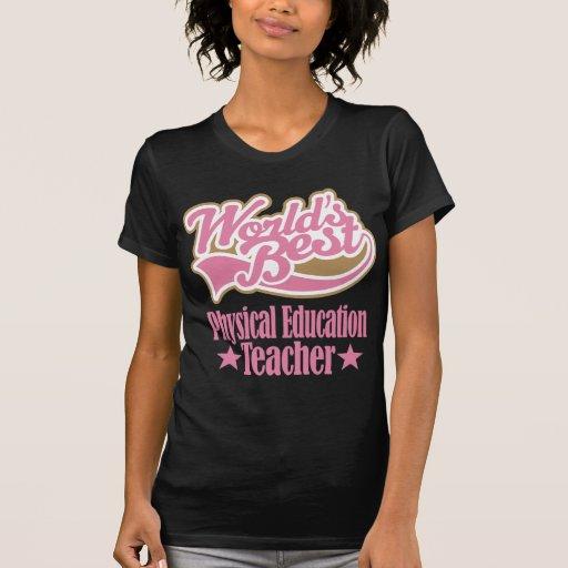 Presente do professor da educação física (mundos t-shirt