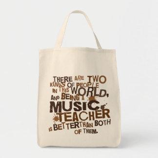 Presente do professor de música sacola tote de mercado