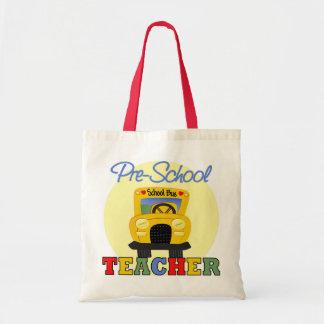Presente do professor do pré-escolar bolsas para compras