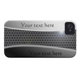 presente do texto do metal 3D do carbono do capa Capas Para iPhone 4 Case-Mate