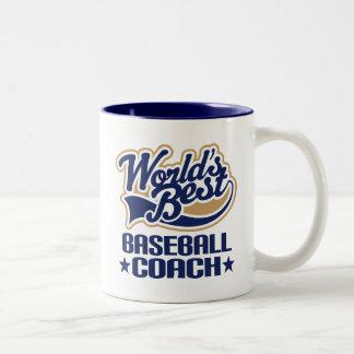 Presente do treinador de basebol caneca de café em dois tons