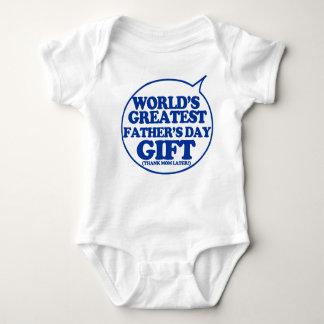 Presente engraçado do dia dos pais para que o bebê body para bebê