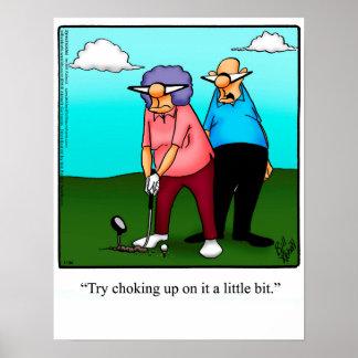Presente engraçado do poster do humor do golfe