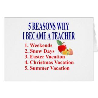 Presente engraçado do professor cartão