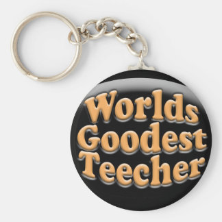 Presente engraçado do professor de Goodest Teecher Chaveiro