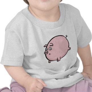Presente engraçado do Tshirt do bebê do porco