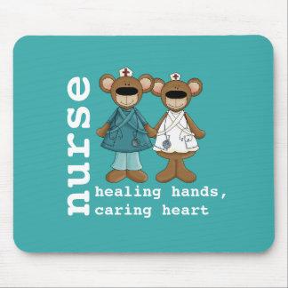 Presente engraçado Mousepads das enfermeiras dos