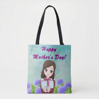 Presente feliz do dia das mães (customizável) bolsa tote