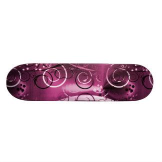 Presente feminino roxo floral abstrato das videira skateboard