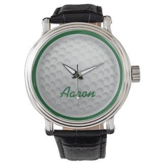 Presente Golfing personalizado do relógio da bola