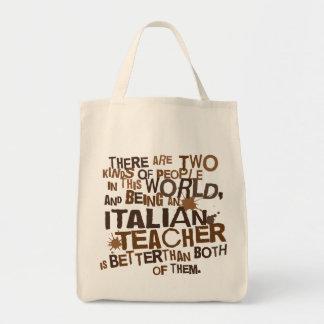 Presente italiano do professor bolsas para compras