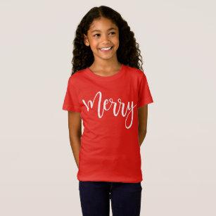 bad106888 Camisas & Camisetas Feliz Natal Vermelho | Zazzle.com.br