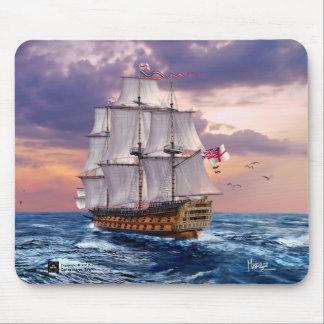 Presente Mousepads da pintura da capitânia da HMS