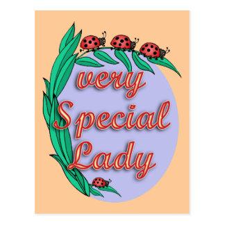 Presente muito especial da senhora dia das mães cartão postal