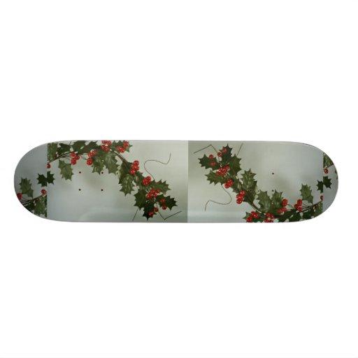 Presente original do azevinho para ocasiões especi skates