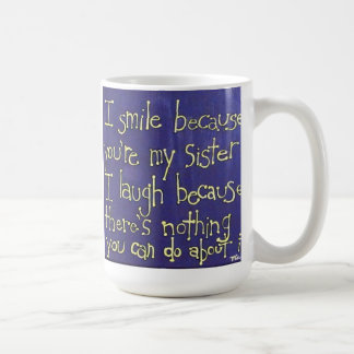 Presente para a caneca de café da irmã com